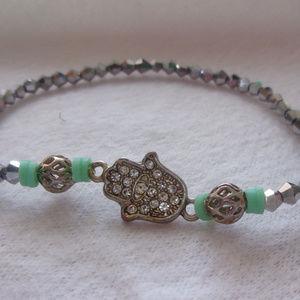 Jewelry - Delicate Hamsa charm stretch bracelet
